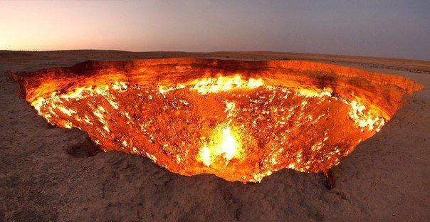 Дверь в ад - устрашающее явление в Туркмении