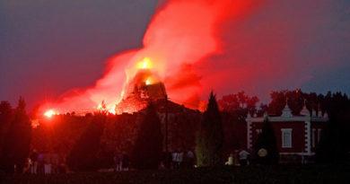 Искусственный вулкан в Германии, который извергается