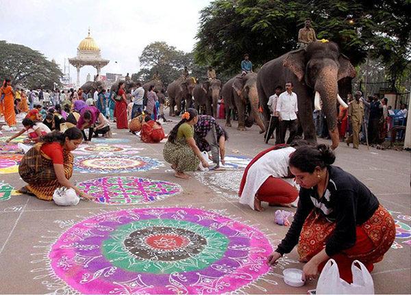 Ранголи - древнее искусство Индии