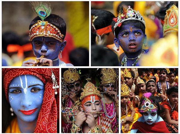 Праздник в Индии: День явления Кришны