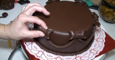 Шоколадная мастика из маршмелоу
