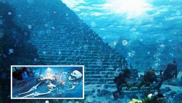 Подводный город у берегов Кубы