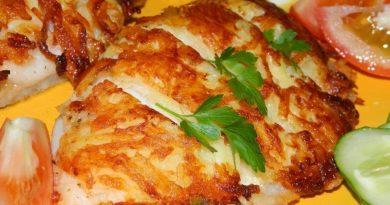 Семга в картофельной панировке