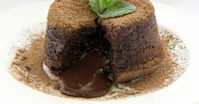 Шоколадные кексы с жидкой начинкой