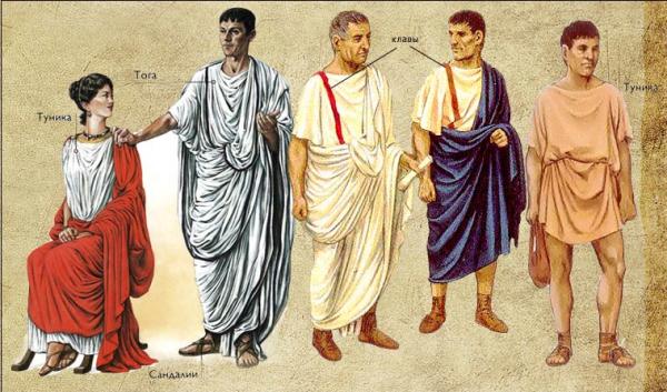 Одежда древних римлян: факты о туниках