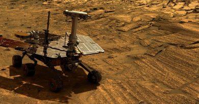 На Марсе бушует пылевая буря. Жизнь одного из марсоходов NASA под угрозой.