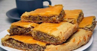 Пирог с сыром и мясом