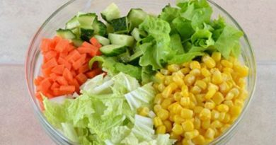 Овощной салат «Цветной»