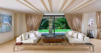 Как визуально поднять потолок