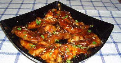 Куриные крылышки в соусе терияки