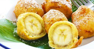 Жареные в кляре бананы