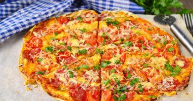 Пиццa на лаваше в духовке
