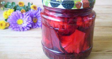 Маринованная цветная капуста со свеклой
