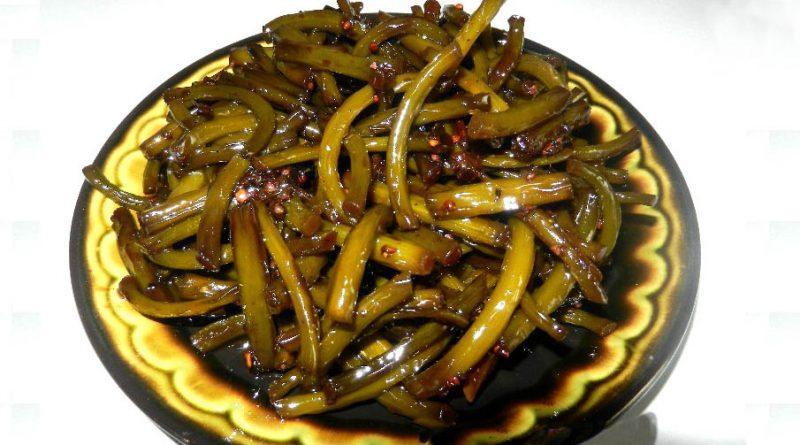 Корейский салат из чесночных стрелок