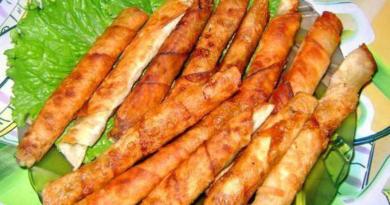Закусочные рулетики из армянского лаваша