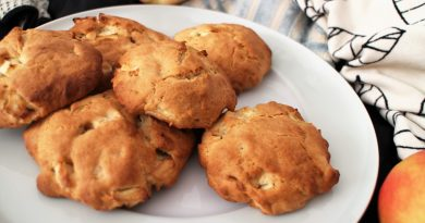 Мягкие яблочные печенья