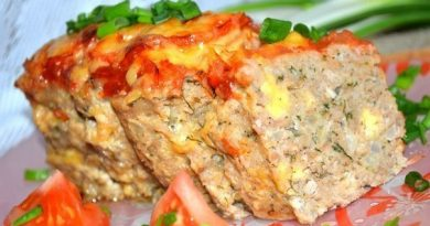 Мясной хлебец с сыром