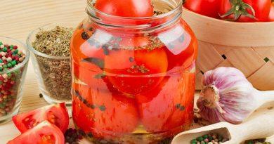 Как готовить помидоры дольками на зиму