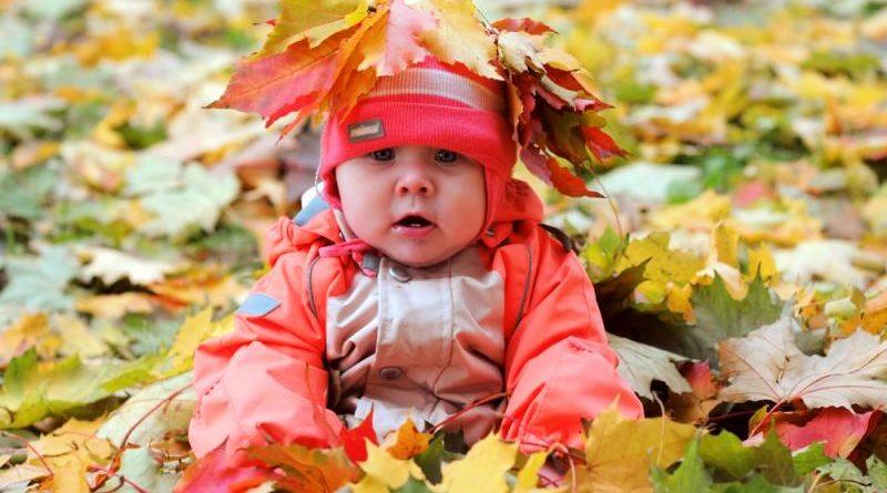 5 советов, как гулять с малышом до 1 года осенью