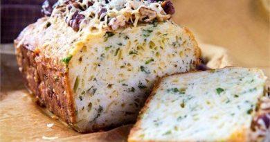 Кекс с сыром и зеленью