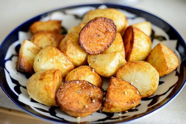 Жареный картофель по-узбекски