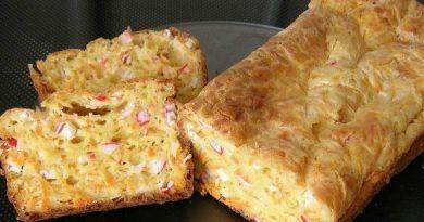 Сырно-крабовый кекс