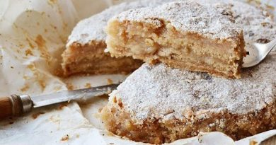 Насыпной яблочный пирог. Не нужно возиться с тестом