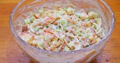 Очень вкусный белковый салатик