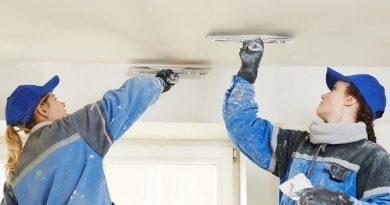 Как отремонтировать потолок после протечки