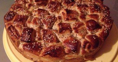Пирог «Кубики» с джемом