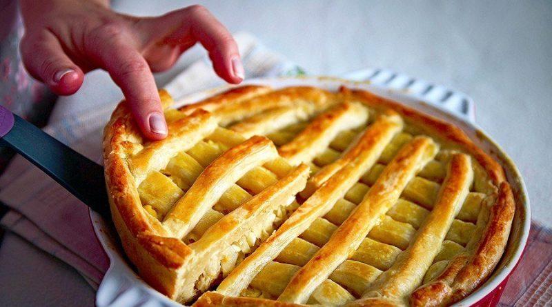 Капустный пирог на сметанном тесте