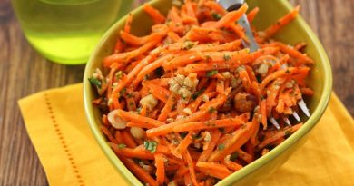 Морковный салат с медом