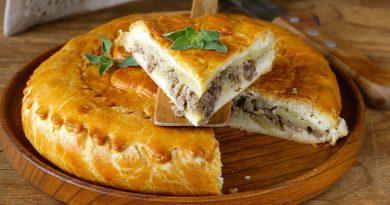 Легкий и вкусный пирог с мясом