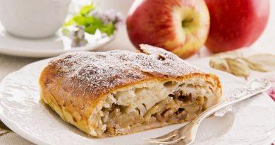 «Ленивый» штрудель с яблоком и корицей
