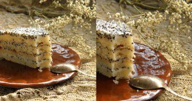 Торт «Сметанный» с маком.