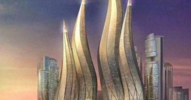 Первый в мире танцующий небоскреб — Dynamic Tower в Дубае