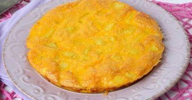 Омлет с картофелем в духовке