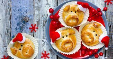 Новогоднее песочное печенье Свинки