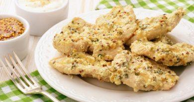Курица в сметане с горчицей