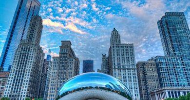 Облачные Ворота Клауд-Гейт. Чикаго