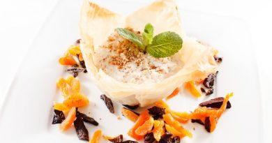 Рецепт рисовой запеканки с фруктами и орехами