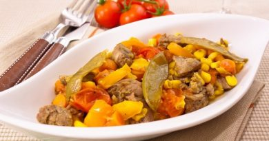 Говядина, запеченная с овощами