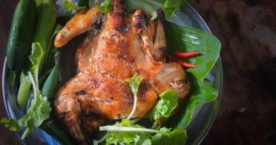 Рождественский цыпленок с гранатом