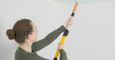 Техника окраски поверхности потолков