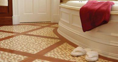 Обзор напольного покрытия для ванной комнаты