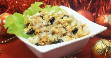 Новогодний салат «Фейерверк»