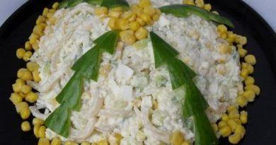 """Праздничный салат """"Елки"""""""