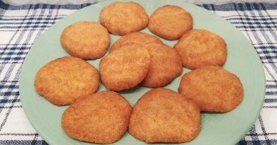 Быстрые печеньки с кокосом