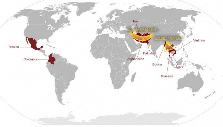 Какие страны входят в «Золотой треугольник»?