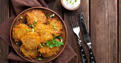 Картофельные деруны с грибами